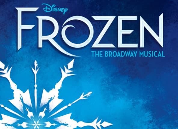 Disney's Frozen; large snowflake with woman's profile in design