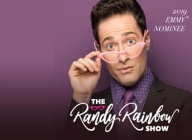 Randy Rainbow on a purple background