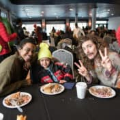 Community members share in a meal at 5 to 10 on Hennepin event